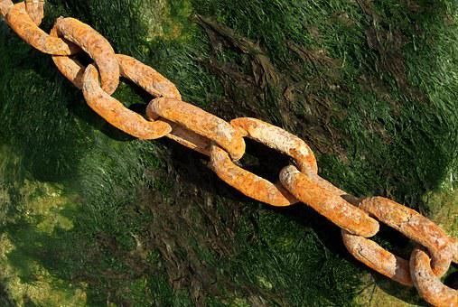 Rusty, Chain, Link, Iron, Steel, Old