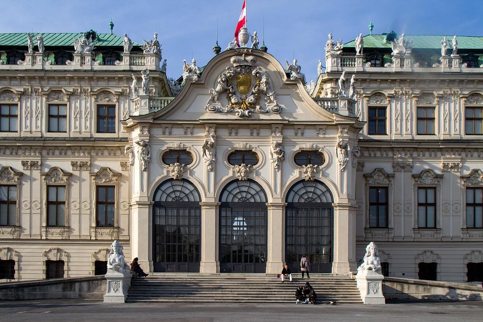 Vienna, Zamek, Belvedere, Fasada