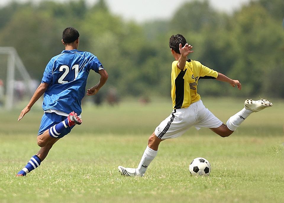 Fodbold, Fodboldspillere, Spark, Kicking, Spil