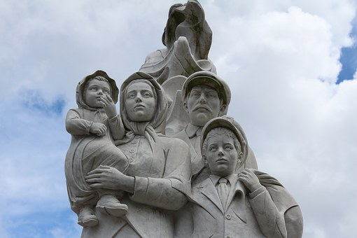 ニユー ・ オーリンズ, 像, 記念碑, 移民, 家族, 出入国管理, アメリカ