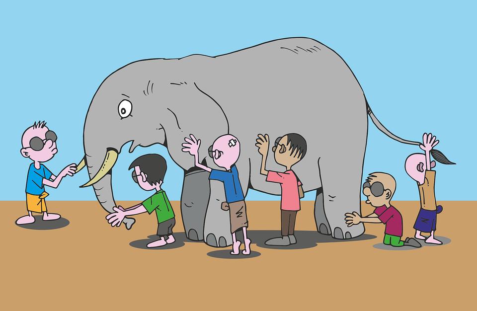 Kostenlose Vektorgrafik: Blinde, Elefant, Geschichte ...