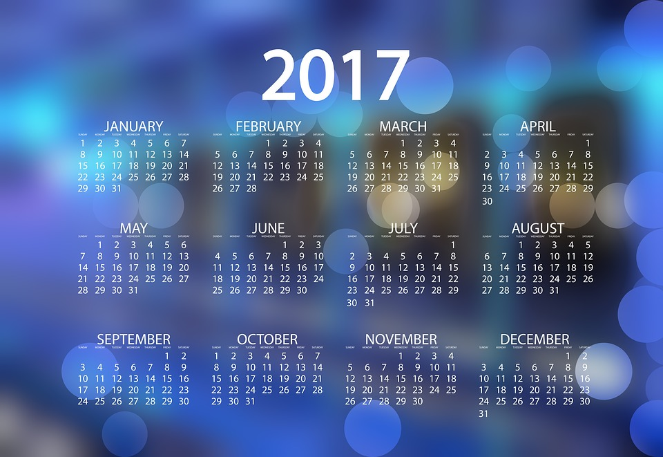 agenda calendar schedule plan year date