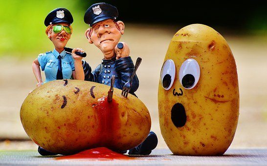 Potatoes, Murder, Blood, Police