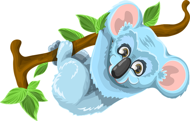 Free Vector Graphic Koala Animal Cute Tree Stick