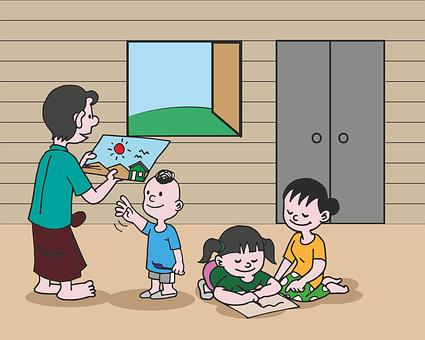 House, Home, Paint, Draw, Art, Children