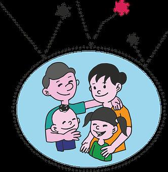 Family Mum Dad Child Children Baby To