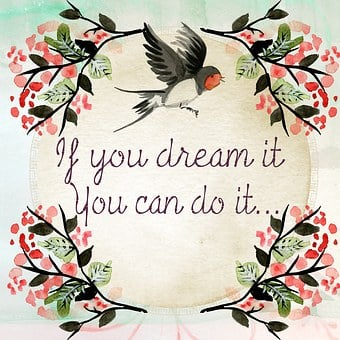 Quote Wall Art Message Dream Achieve Inspi