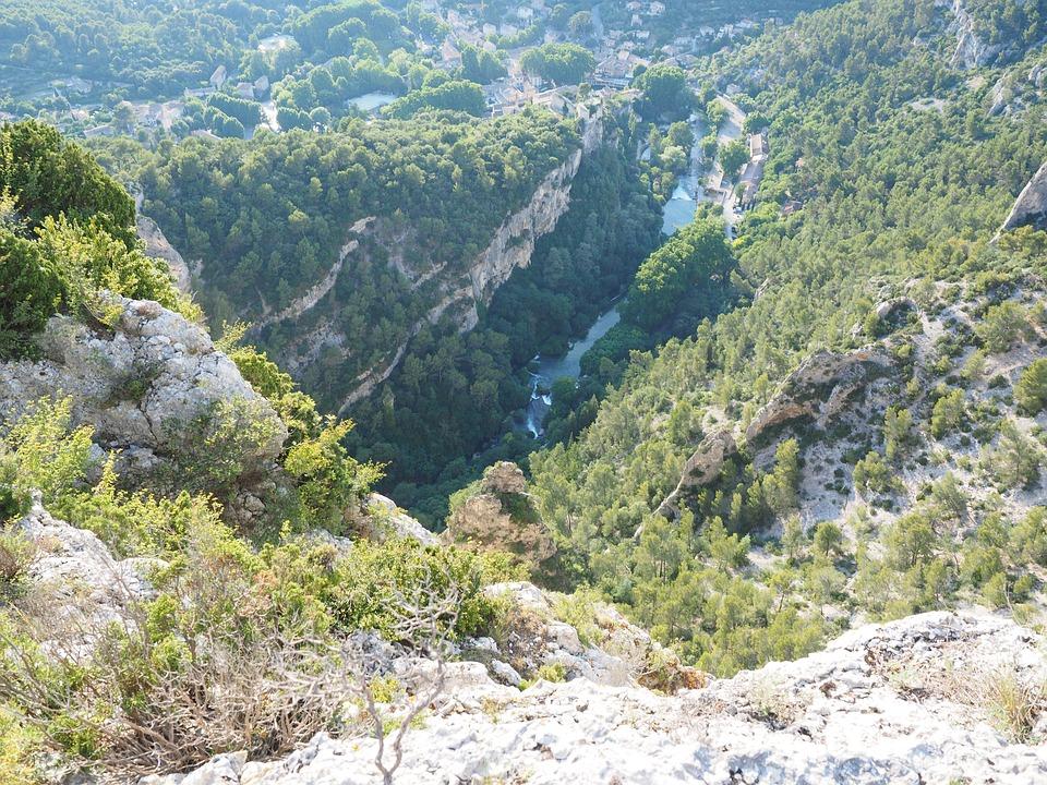 Krajobraz Krasowy, Krasowy Terenem, Kras, Rock, Francja
