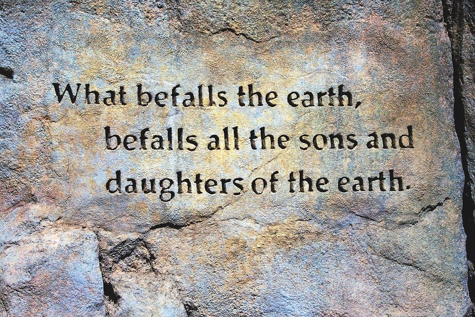 Overkomen De Aarde Citaat, Rotswand, Aarde Citaat