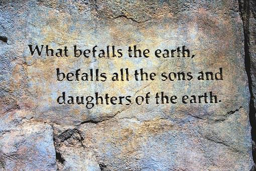Befall The Earth Quote, Rock Wall