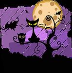 night, halloween, moon