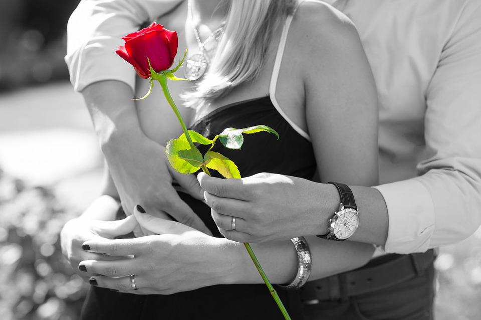 Rosa Roja, El Amor, Romántico, Pareja, Romance, Regalo