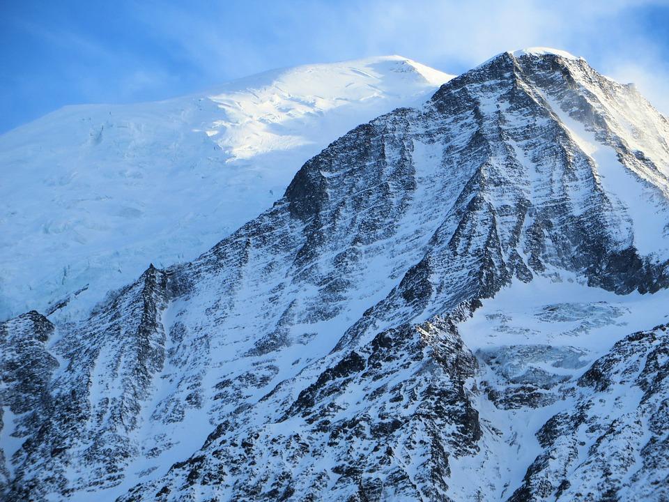Frankrike Alperna Mont Blanc Tacul Gratis Foto Pa Pixabay
