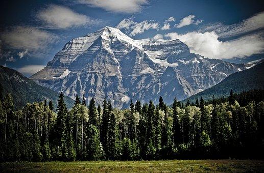 Montanha, Mount Robson, Picos