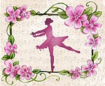 ballerina, dance, piano