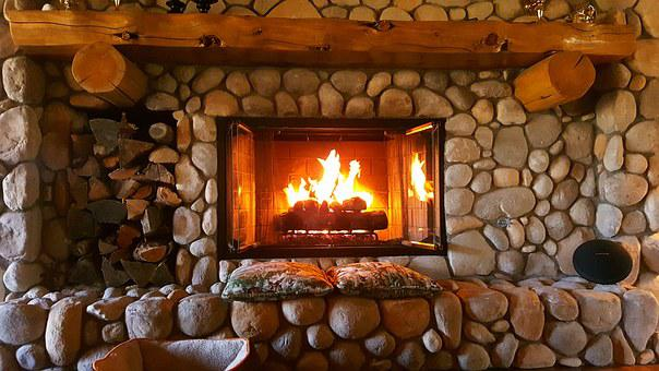 Fireplace Fire Home Interior Warm Place Ro