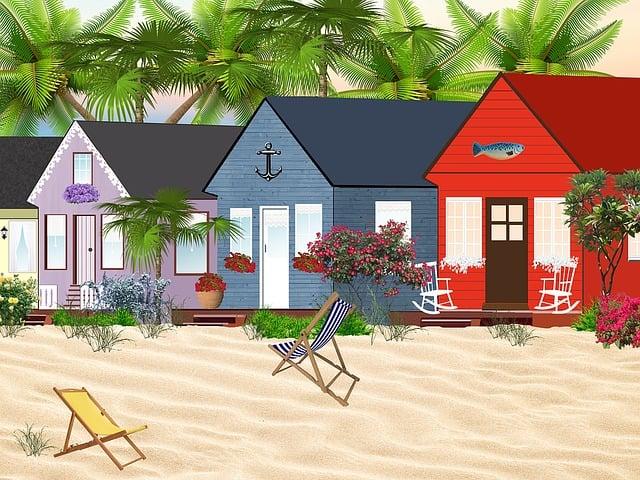 haeuser huetten strand kostenloses bild auf pixabay