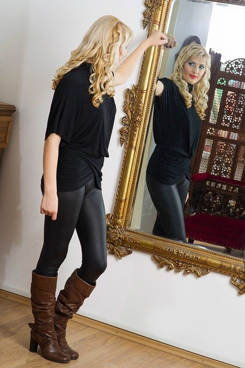 Image result for woman look proud in the mirror