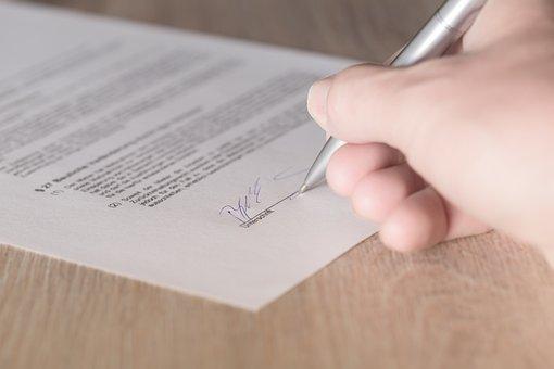 契約, 署名, リース, 利用可能です