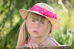 child, girl, hat