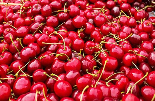 Cherries Sweet Cherries Heart Cherries Fru