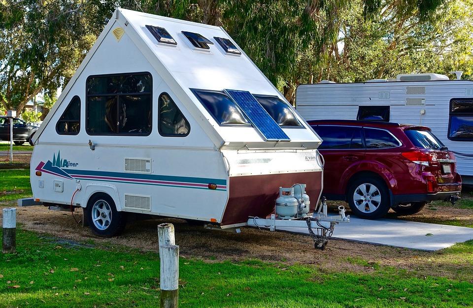 free photo caravan camping rv campsite free image on. Black Bedroom Furniture Sets. Home Design Ideas