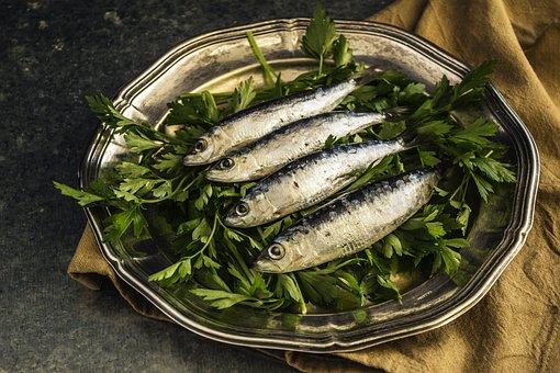 Sardinas, Peces, Almuerzo, Saludable