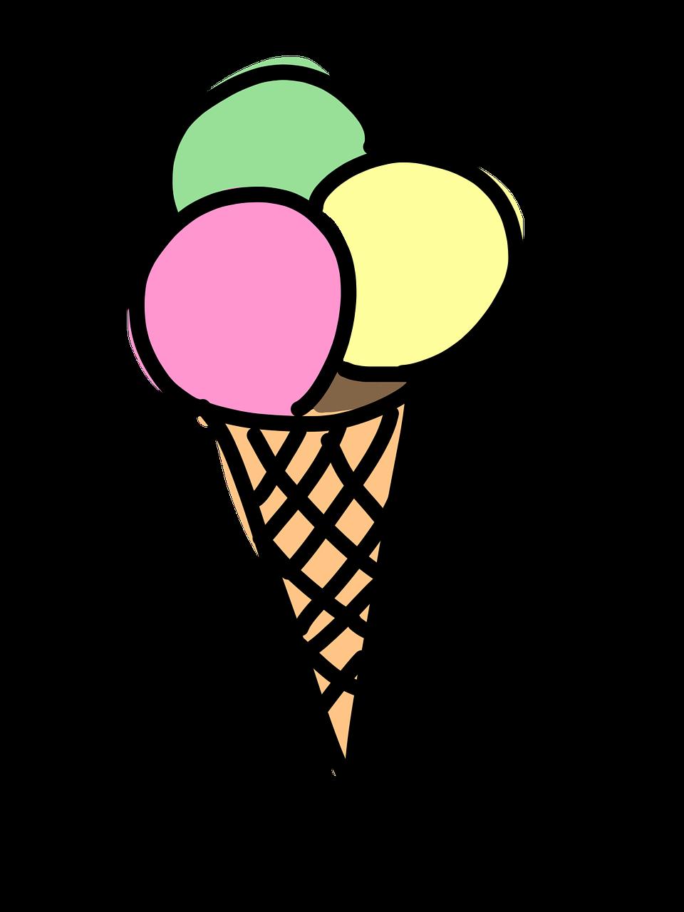 Открытки, мороженое картинки нарисованные