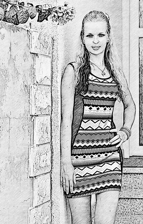 Dessin Fille Jolie Image Gratuite Sur Pixabay