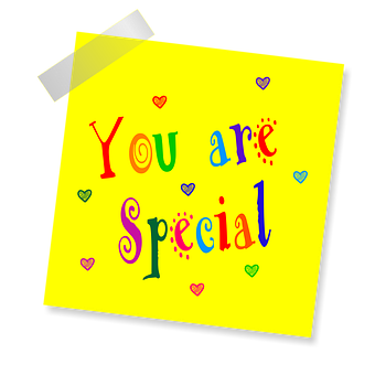 You Are Special, Yellow Sticker, Note