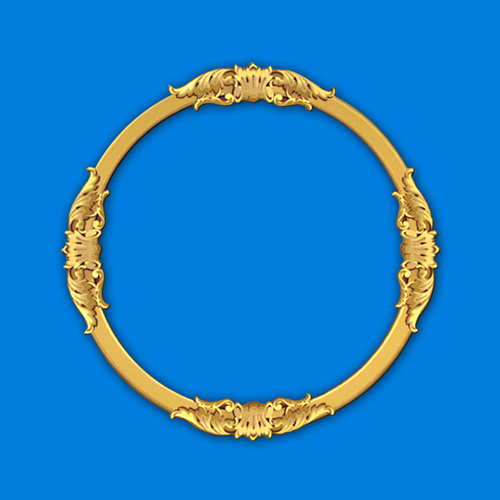 Round Frame Tracery Gold · Free image on Pixabay