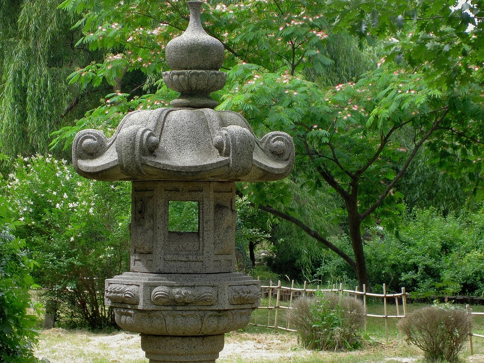 Japanese Garden Stone Lamp Asian 183 Free Photo On Pixabay