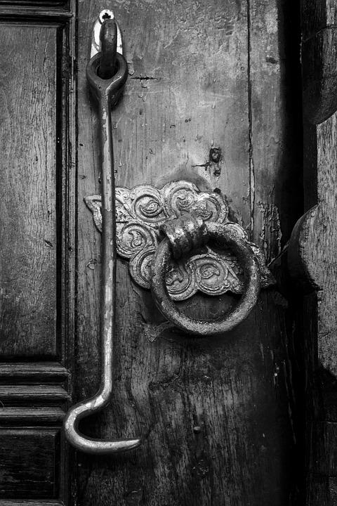 door lock and key black and white. Lock, Key, Door, Hook, Istanbul, On, Ancient, Antique Door Lock And Key Black White O