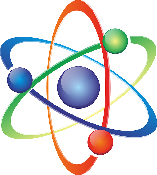 free illustration atom logo science free image on
