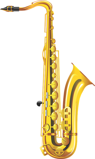 Saxophone musical instrument wind free vector graphic on - Saxophone dessin ...