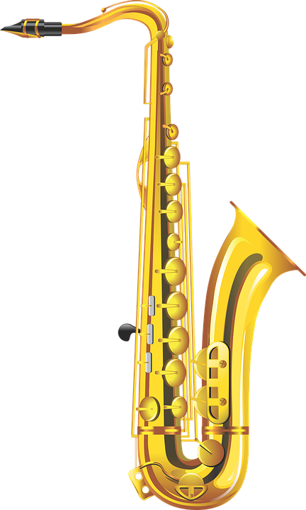 Saxophone musical instrument wind free vector graphic on - Coupe vent terrasse transparent ...