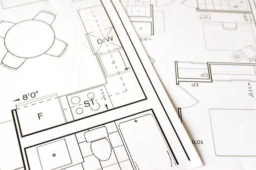 Floor Plan, Blueprint, House, Home