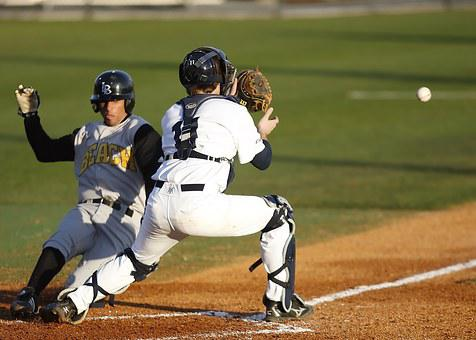 Baseball, Catcher, Play At The Plate