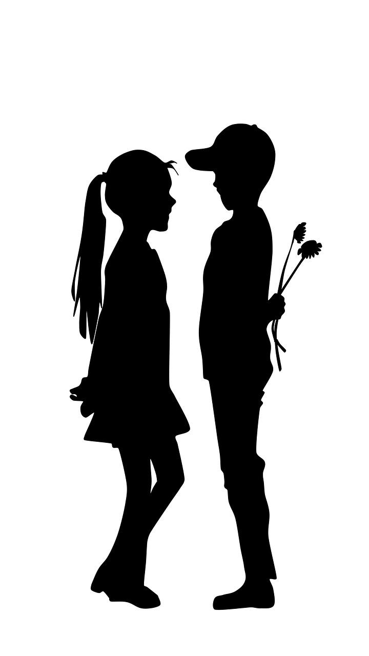 Картинка влюбленные пары силуэты