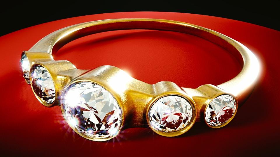 anillo joyera diamante de oro d metlicos gemas