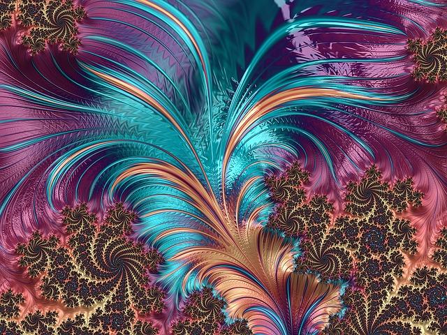 Free Illustration Feather Fractal Artistic Design