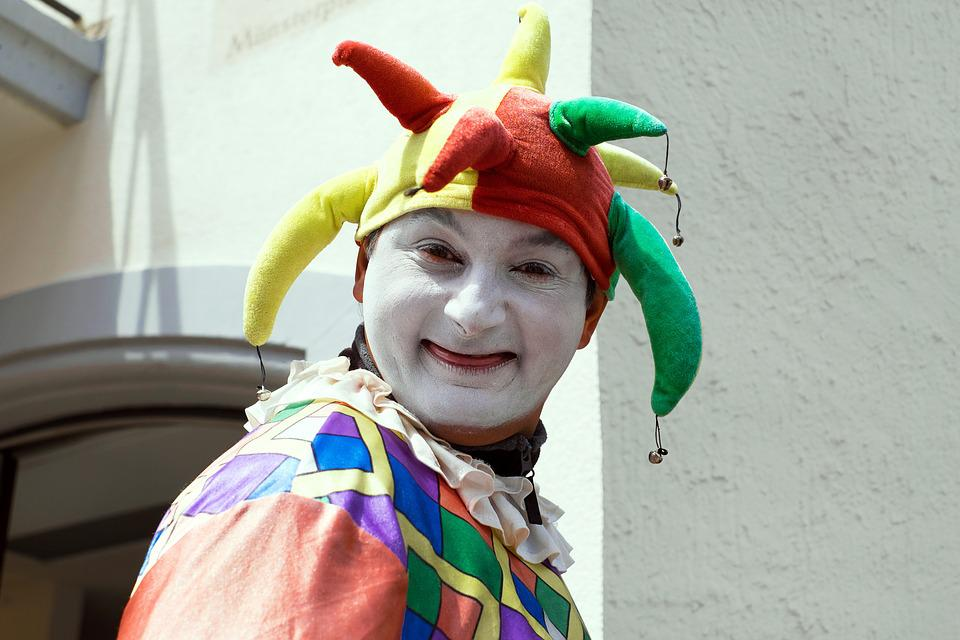 Fool, Court Jester, Clown, Funny, Portrait