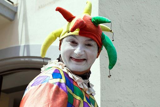 Fool Court Jester Clown Funny Portrait Foo