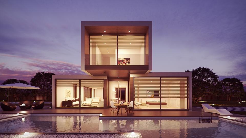 House, Pool, Interior Design, Architecture, 3D, Design