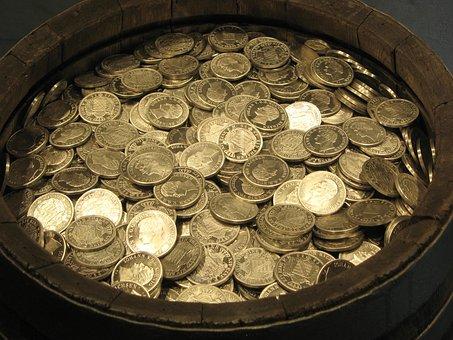 Geld, Münzen, Gold, Hartgeld, Metallgeld