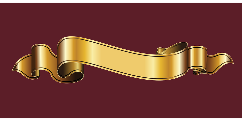 gold ribbon heraldry free vector graphic on pixabay