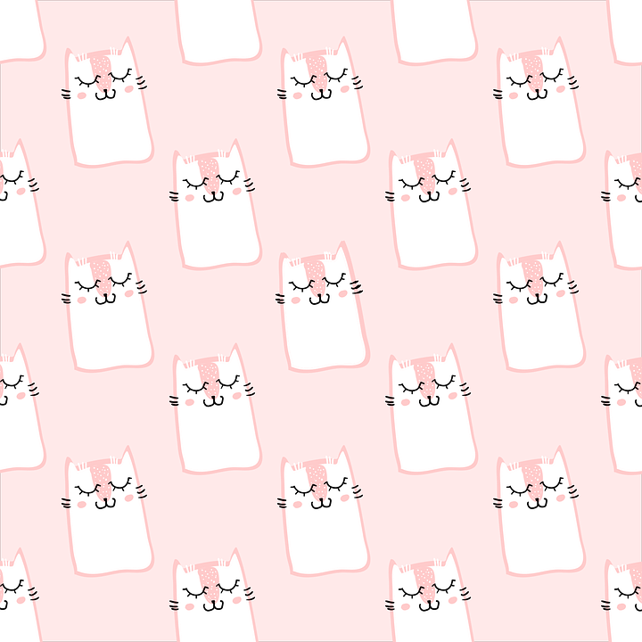 Free Vector Graphic Pattern Cat Pink Cute Sweet