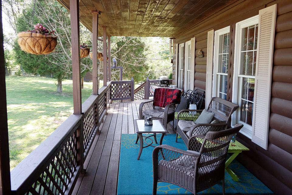 Porch, Country Living, Covered Porch, Summer, Deck