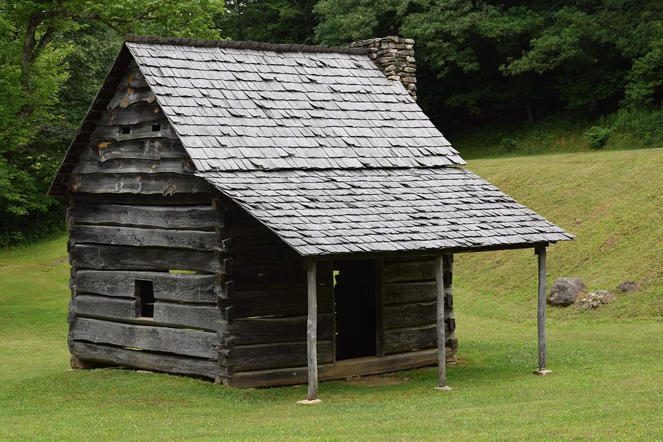 Cabin, Rustic, Historic, Log, Wood, Rural, Home, House