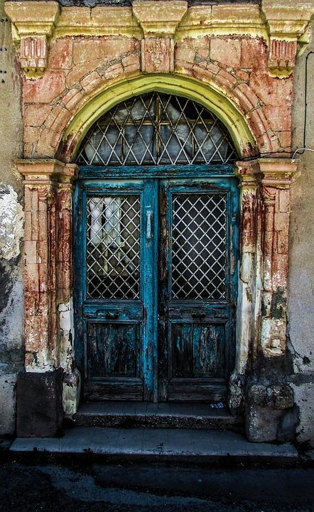 Cyprus, Aradippou, Old House, Entrance, Door